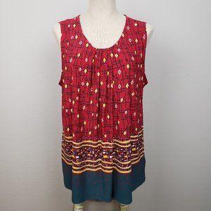 Anne Klein sleeveless tunic top size XL